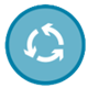Sustainable Product Lifecycle (icon)
