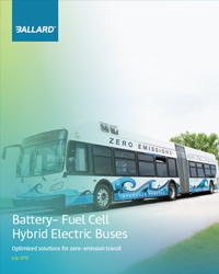 Battery fuel cell bus hybrid electric bus