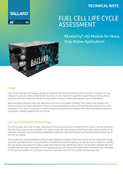 Fuel cell life cycle assessment