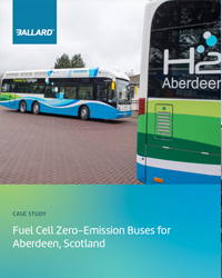 Fuel cell zero-emission buses for Aberdeen, Scotland