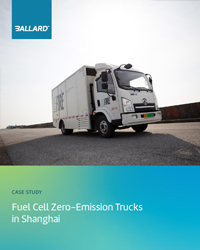 Fuel cell zero-emission trucks in Shanghai