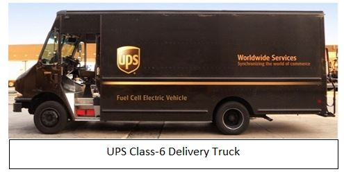 UPS Fuel Cell Delivery Van caption