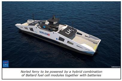 Norled ferry captioned